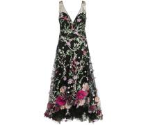 Kleid mit Stickerei - Schwarz