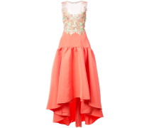 embroidered faille high-low dress - Rosa & Lila