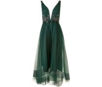 Kleid mit Pailletten - Grün