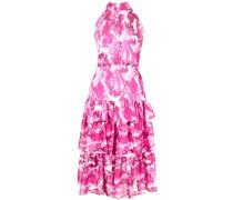 Stufenkleid mit Rüschen - Rosa