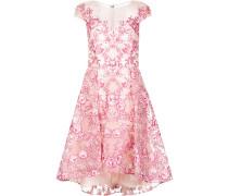Kleid mit floraler Stickerei - Rosa & Lila