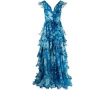 Kleid mit V-Ausschnitt - Blau
