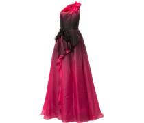 Asymmetrisches Abendkleid - Rot
