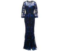 Abendkleid mit Spitze - Blau