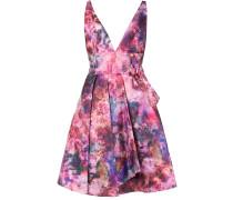 Florales Kleid mit ausgestelltem Schnitt - Rosa & Lila