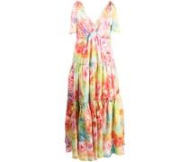 Kleid mit Jacquardmuster - Mehrfarbig