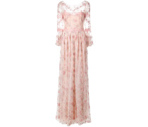 Kleid mit Blumenstickerei - Rosa