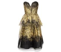 Drapiertes Kleid - Gold