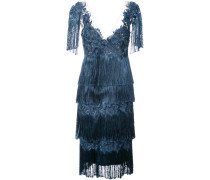 fringed dress - Blau