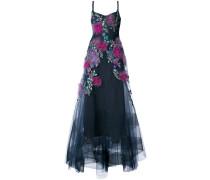 embellished floral gown - Blau