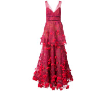 3D embroidered gown - Rot