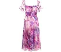 Schulterfreies Kleid - Mehrfarbig