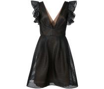 Minikleid mit tiefem V-Ausschnitt - Schwarz