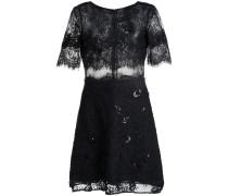 Kurzes Kleid mit Stickereien - women - Nylon