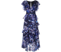 Geblümtes Kleid - Blau