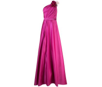 Drapierte One-Shoulder-Robe - Rosa