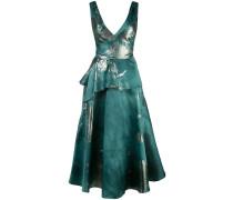Kleid mit Metallic-Print - Grün