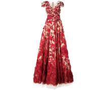 floral appliqué gown - Rot