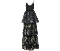 layered skirt evening dress - Schwarz
