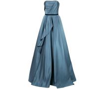 Drapiertes Abendkleid - Blau