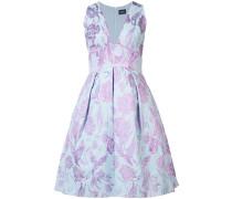Kleid mit Blumenstickerei - Blau