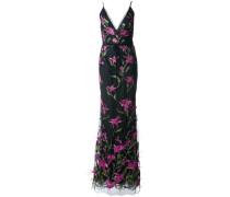 Florales Kleid - Schwarz