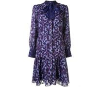 Kleid mit Leopardenmuster - Violett