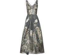 metallic floral dress - women - Nylon - 0