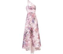 Robe mit Blumen-Print - Rosa