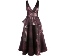 Kleid mit Metallic-Print - Lila