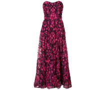 Langes Kleid mit floraler Verzierung - Rosa & Lila
