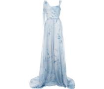 Asymmetrisches Abendkleid - Blau