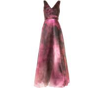 Ausgestellte Robe mit Print - Violett