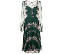 Kleid mit Plissee - Grün