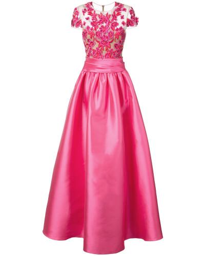 Verziertes Abendkleid - Rosa & Lila