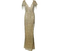 Figurnahes Kleid mit Fransen
