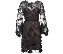 lace shift dress - Schwarz