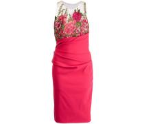 Kleid mit Blumenstickerei - Rosa & Lila