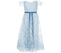 Abendkleid mit Glitter-Tüll - Blau
