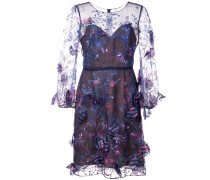 Semi-transparentes Kleid - Blau
