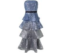 Kleid mit Pailletten - Blau