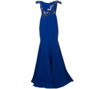 Schulterfreie Robe - Blau