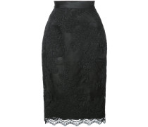 lace fitted mid skirt