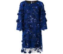 embellished shift dress - Blau