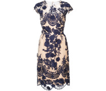 Florales Kleid mit engem Schnitt - Blau