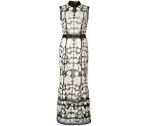 Besticktes Kleid - Weiß