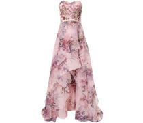 Geblümtes Abendkleid mit Pailletten - Rosa