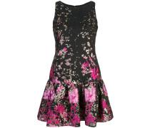 Kleid mit gerüschtem Saum - Schwarz