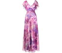 Kleid mit V-Ausschnitt - Rosa