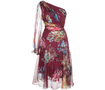 Kleid mit Blumen-Print - Rot
